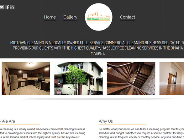 Mid town cleaning web design